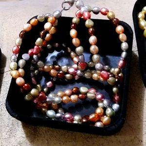 Honora 3 strand fresh water pearls